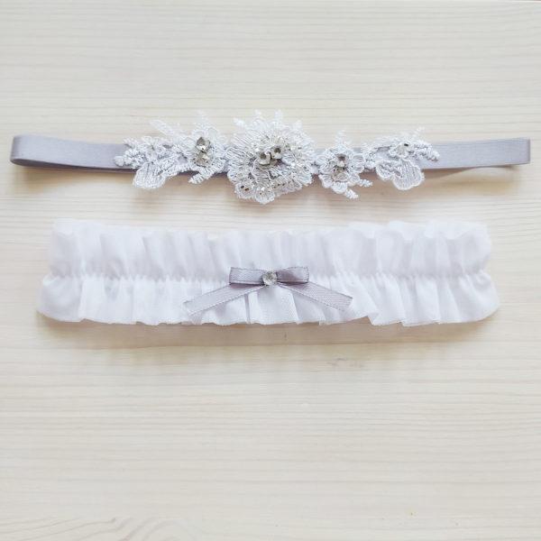Podvazek pro nevěstu netradiční bílý