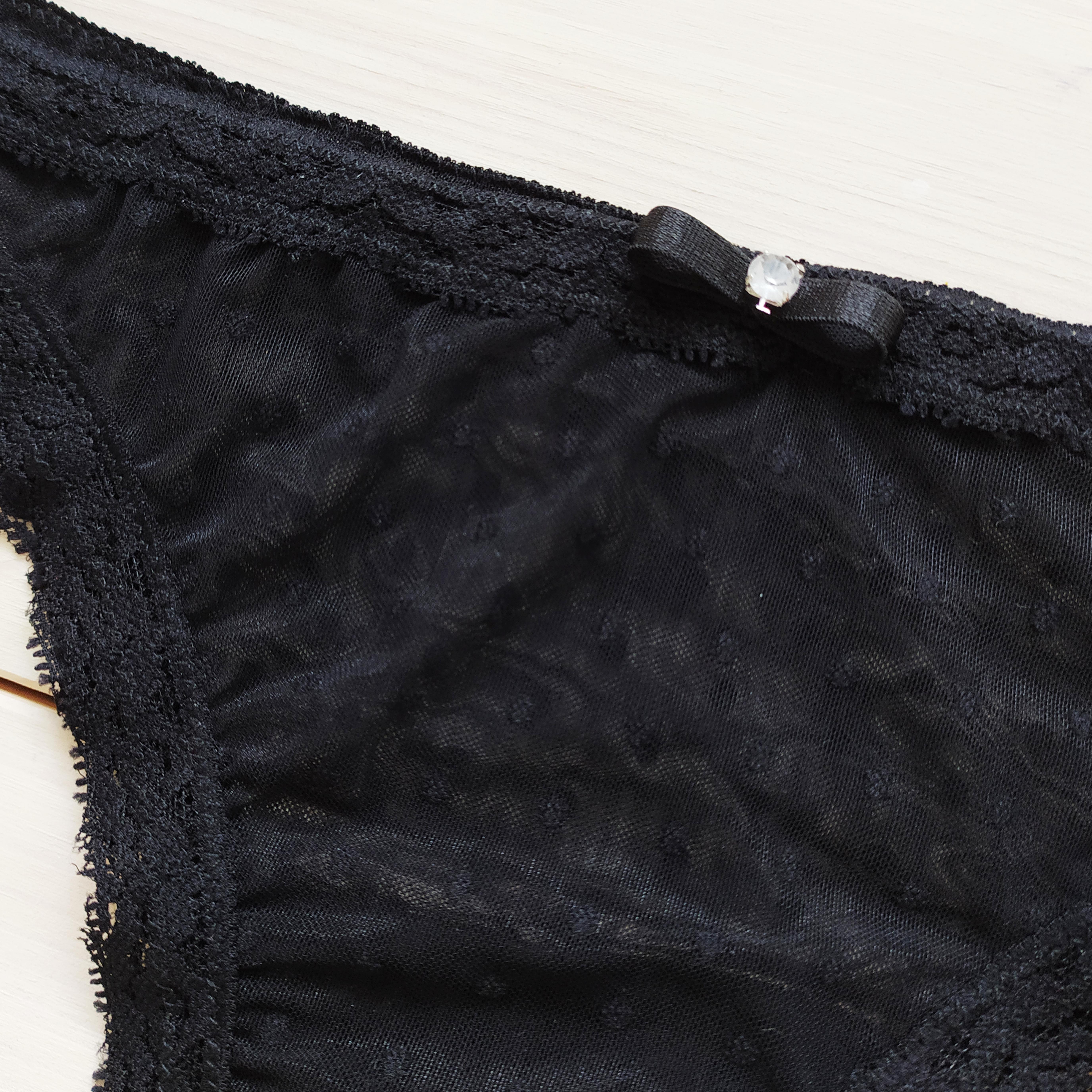 Kalhotky s puntíky černé